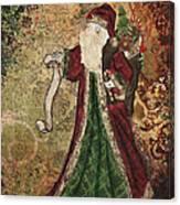 Father Christmas A Christmas Mixed Media Artwork Canvas Print