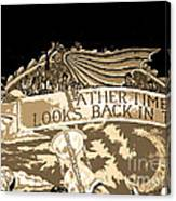 Father Time Looks Back Canvas Print