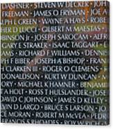 Fathers Sons And Brothers Of The Wall Canvas Print
