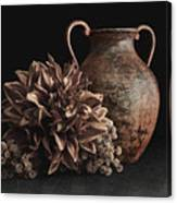 Faux Flower Still Life Canvas Print
