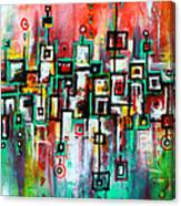 Favelas - Abstract Art By Laura Gomez Canvas Print