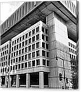 Fbi Building Rear View Canvas Print