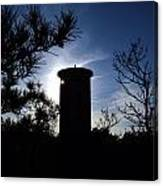 Fct1 Fire Control Tower 1 In Silhouette Canvas Print