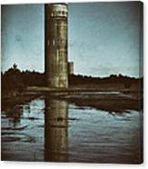 Fct3 Fire Control Tower Reflections In Sepia Canvas Print