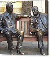 Fdr And Churchill Having A Chat In London Canvas Print