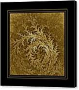 Fear Of The Forest-2 Framed Black And Gold Canvas Print