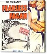 Fearless Fagan, Us Poster, Right Canvas Print
