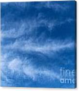 Feather Clouds On Blue Sky Canvas Print