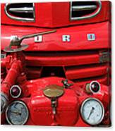 Featured Old Ford  Front On Fire Engine Denmark  Canvas Print