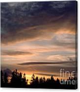 February Sky Canvas Print