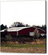 February's Red Barn Canvas Print