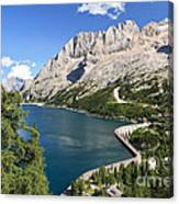 Fedaia Pass With Lake Canvas Print