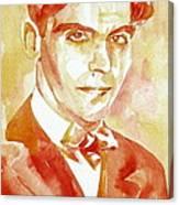 Federico Garcia Lorca Portrait Canvas Print