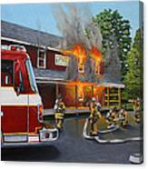 Feed Store Fire Canvas Print