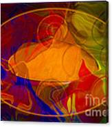 Feeling At Home With Uncertainty Abstract Healing Art Canvas Print
