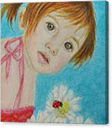 Felisa Little Angel Of Happiness And Luck Canvas Print