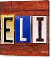 Felix License Plate Name Sign Fun Kid Room Decor Canvas Print
