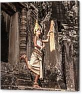 Female Apsara Dancer, Standing On One Canvas Print