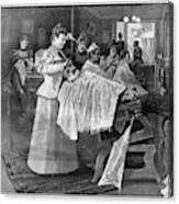 Female Barber-shop, 1895 Canvas Print