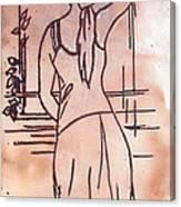 Female Enamel On Copper Canvas Print