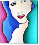 Female Face Shapes And Forms Canvas Print