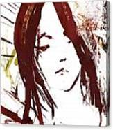 Female Textured Sketch Number 2 Canvas Print