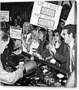 Feminists Protest  Brown's Bar Canvas Print