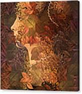 Femme D Automne Canvas Print