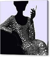 Femme Fatale C1960 Shaken Not Stirred Canvas Print