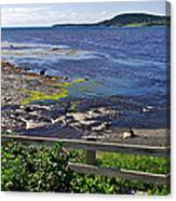 Fence Along Rocky Harbour-nl Canvas Print