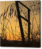 Fence At Sunset I Canvas Print