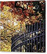 Fence At Woodlawn Cemetery Canvas Print
