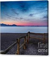 Fence By The Salt Flats Canvas Print
