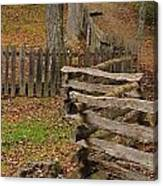 Fence In Autumn Canvas Print