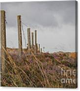 Fence In The Storm In Norway Canvas Print