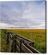 Fence Landscape Canvas Print