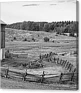 Fence Line Monochrome Canvas Print
