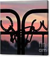 Fence Of Luck Canvas Print