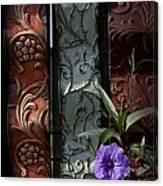 Fence Petunia Canvas Print
