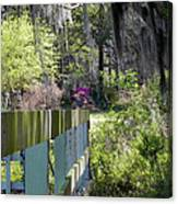 Fence Points The Way Canvas Print