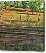 Fence Reflection Canvas Print