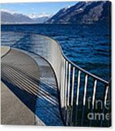 Fence With Shadow Canvas Print