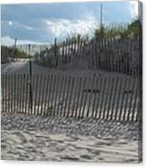 Fenced Dune Canvas Print