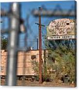 Fenced In  Abandoned 1950's Motel Trailer Canvas Print