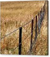 Fenced Off Canvas Print