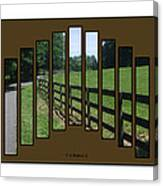 Fenced Pasture Canvas Print