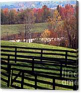 Fences In The Fall Canvas Print