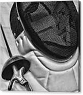 Fencing - Fencing Mask And Sword Canvas Print