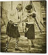 Fencing Practice Canvas Print