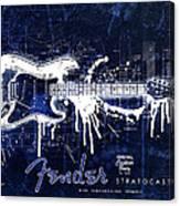 Fender Blueprint Washout Canvas Print
